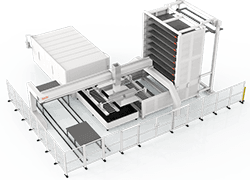 Intelligent Loading And Unloading, Compact Solid  Storage Tower For Intelligent Production